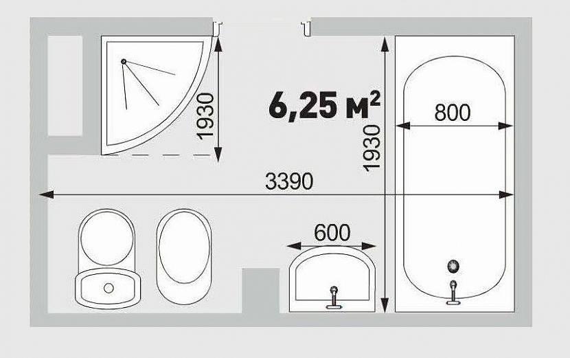 ванная 6,25