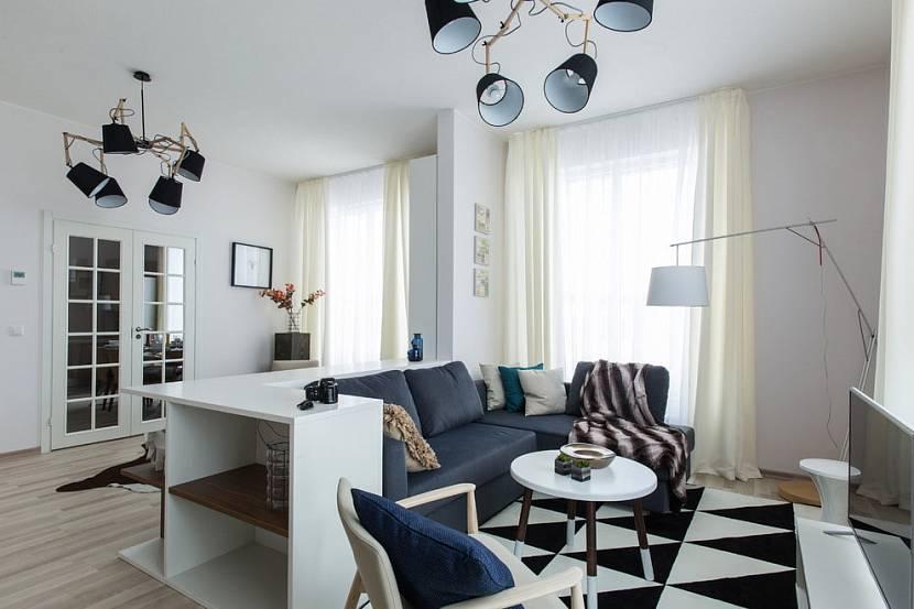 скандинавский интерьер гостиной