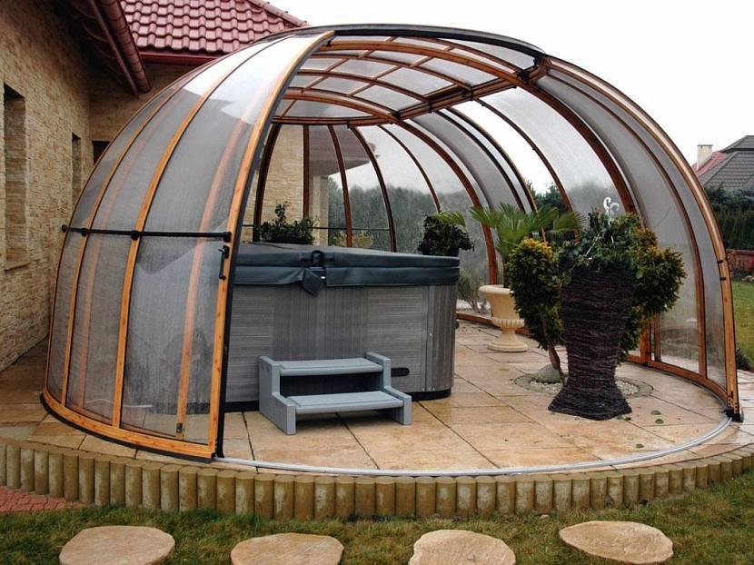 металлические беседки с крышей из поликарбоната