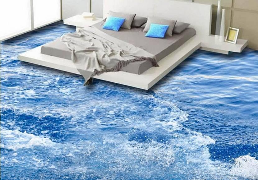 Вода на полу спальной