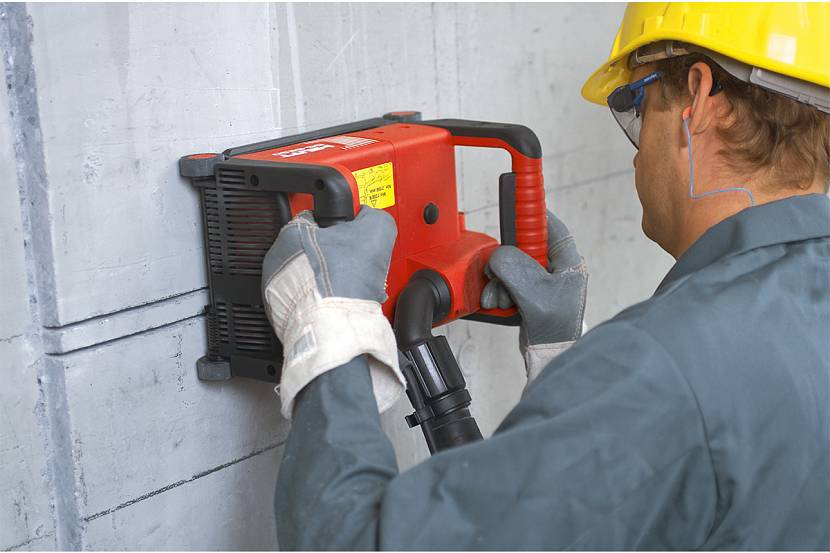 Как работает штроборез по стене