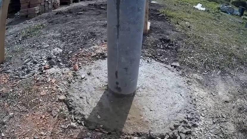 Столбы для ворот большего сечения