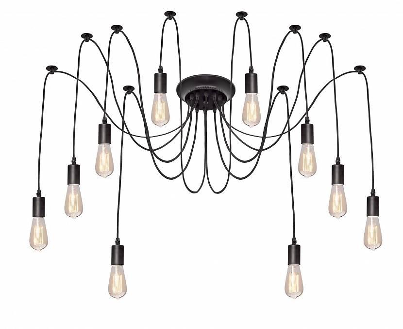 Люстра с лампами Эдисон