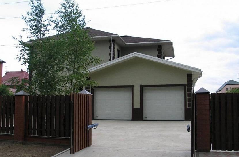 дом с гаражом на 2 машины