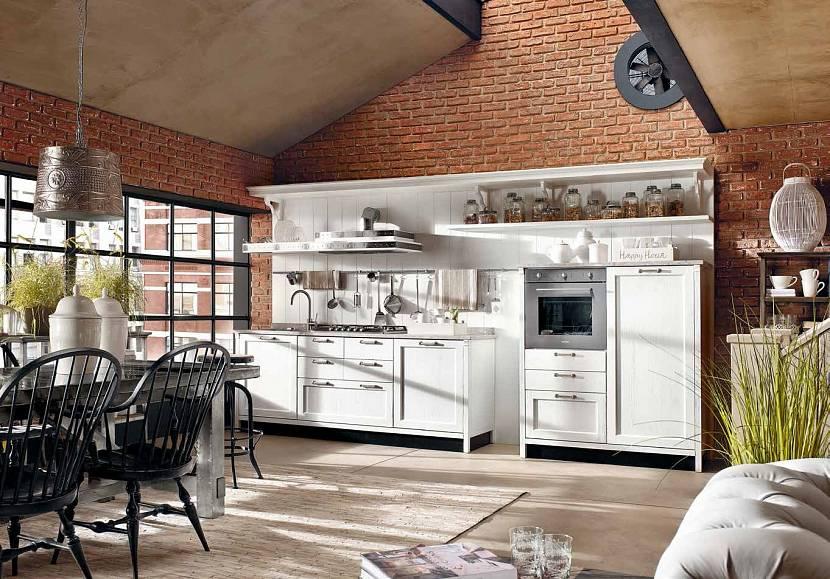 Ванная кухня в стиле ретро