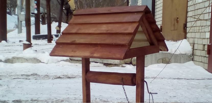 Конструкция двухскатной крыши для колодца