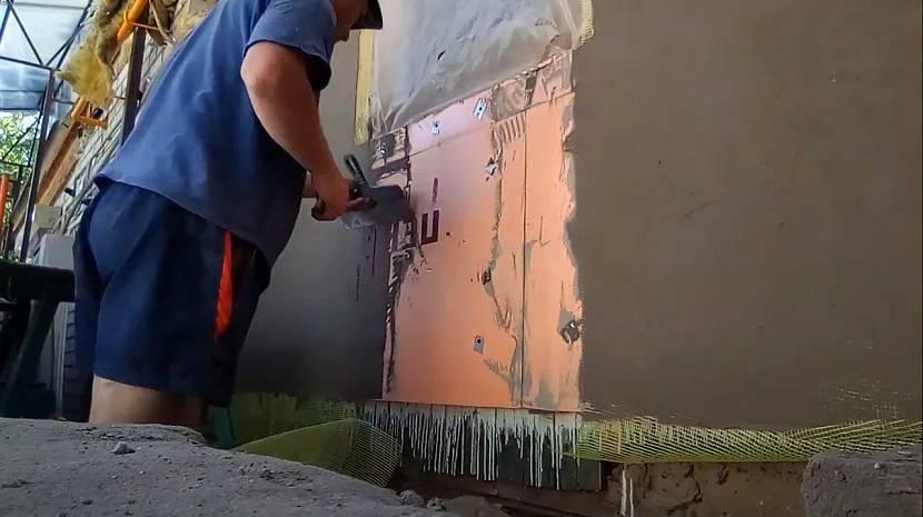 Оштукатуривание фасада по пеноплексу