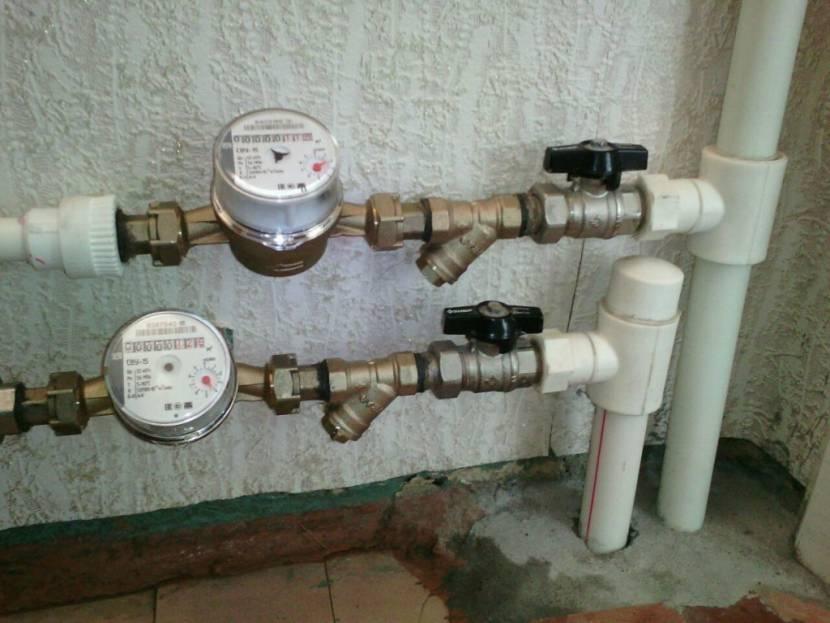 Тахометрические счетчики в системе частного водопровода