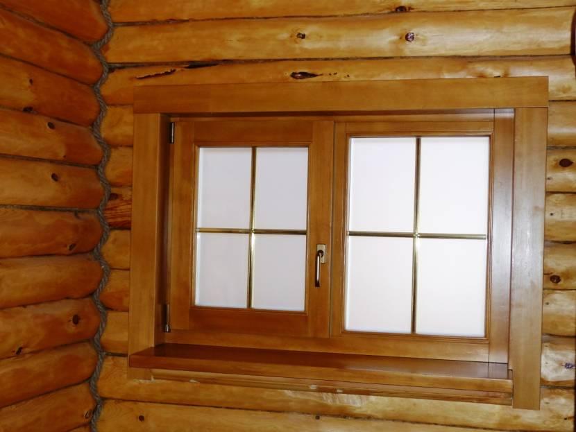Окна в бане должны открываться внутрь