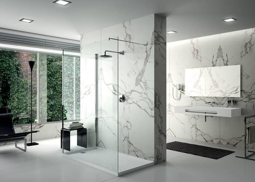 Керамический камень в ванной комнате