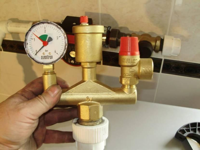 Контроль параметров давления в системе