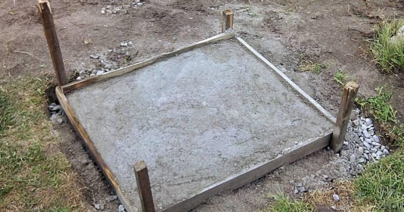 Прямоугольный фундамент для кирпичного тандыра
