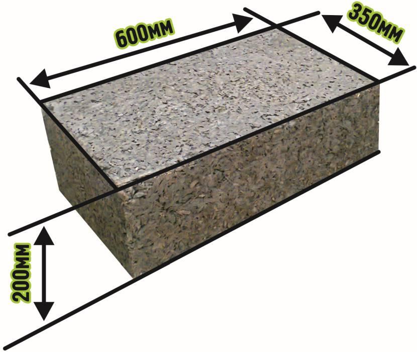 Типичный размер стенового блока