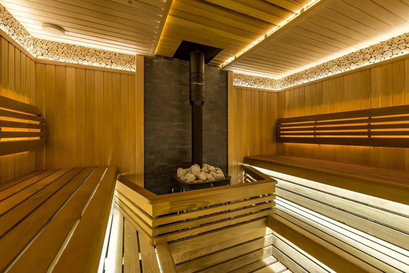 Оптоволоконное освещение в интерьере бани