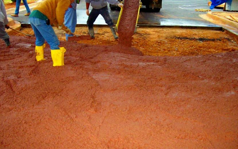 Заколерованный бетонный раствор