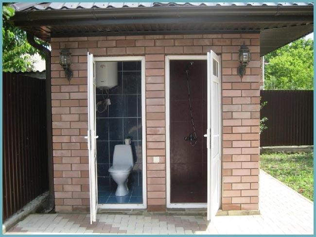 как построить душ на даче