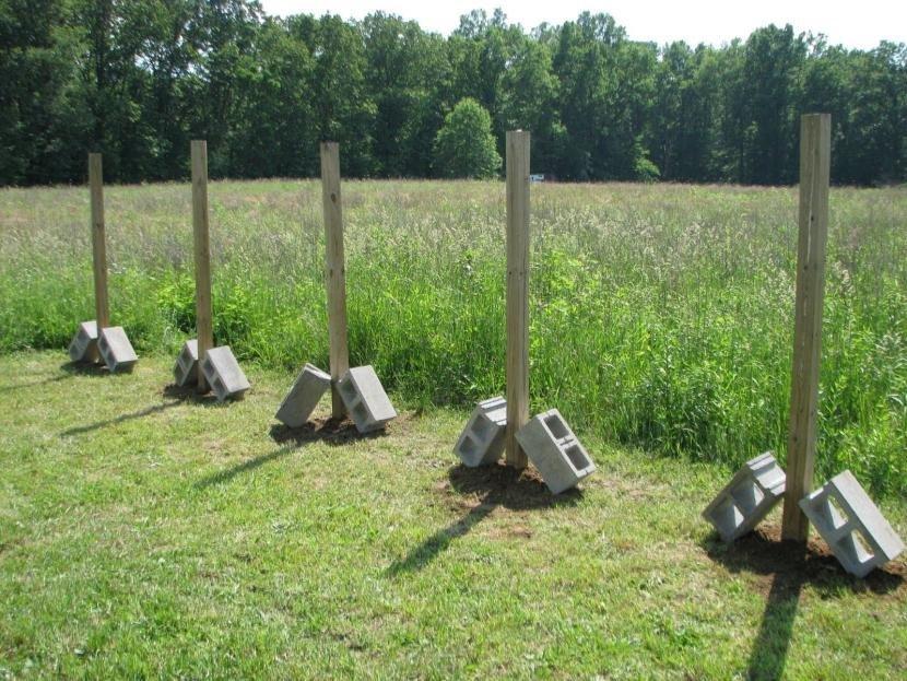 Деревянные столбы для забора