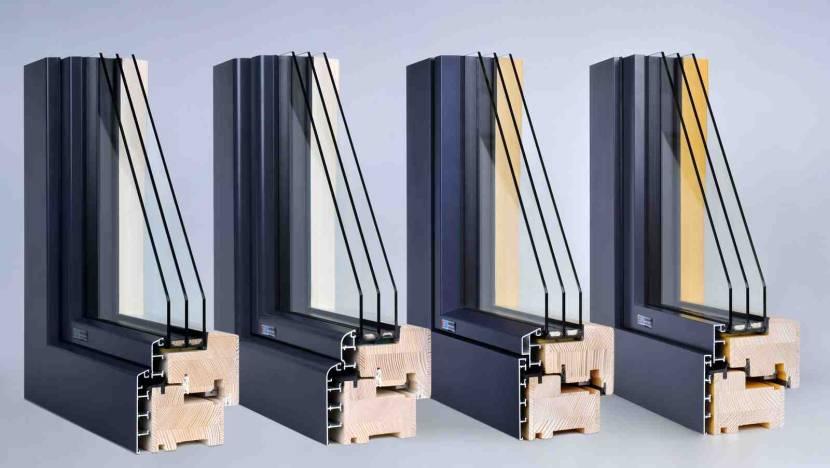 Деревянные окна с наружными алюминиевыми накладками