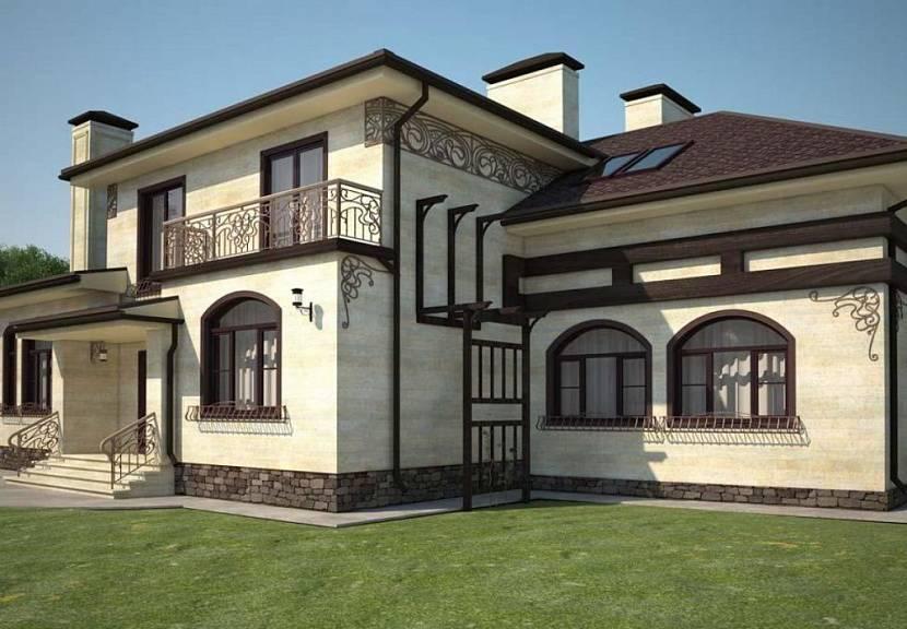 дизайн внешней отделки дома