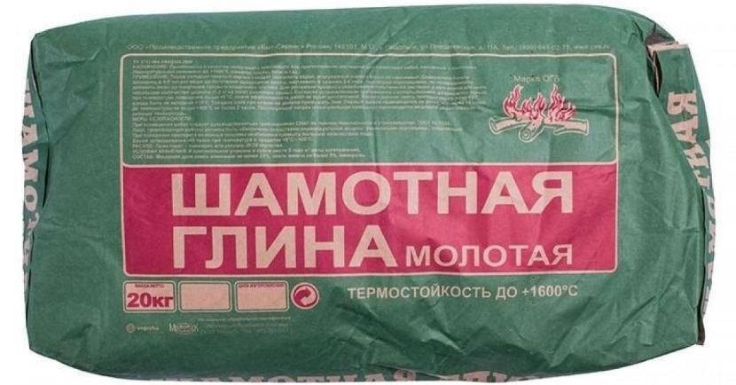 Измельчённая глина в упаковке