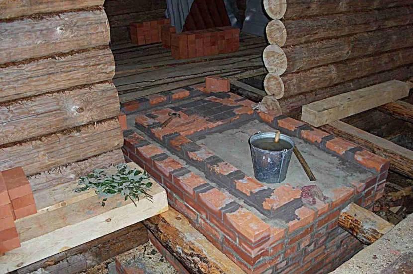 Фундамент под кирпичную печь в бане