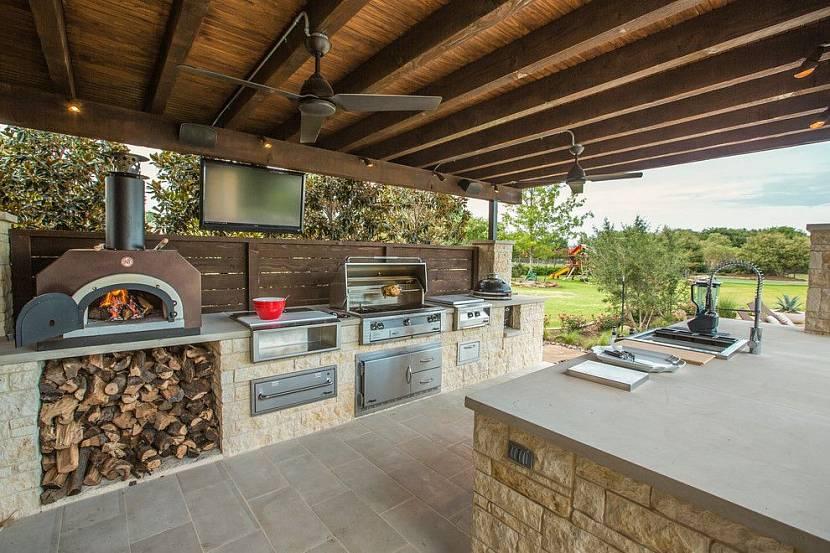 Летняя кухня-комплекс