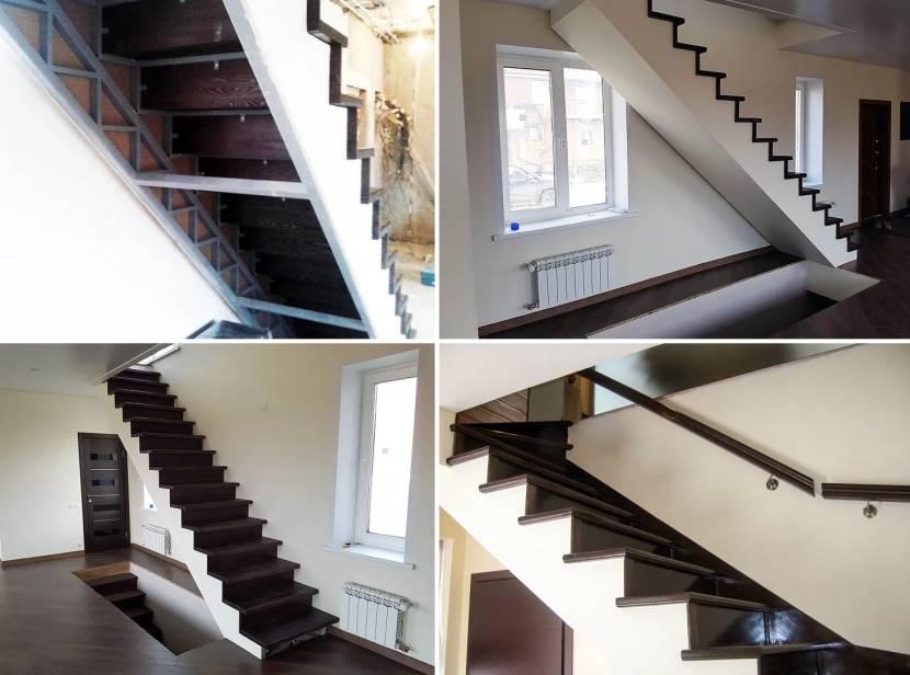 Облицовка внешних сторон лестницы