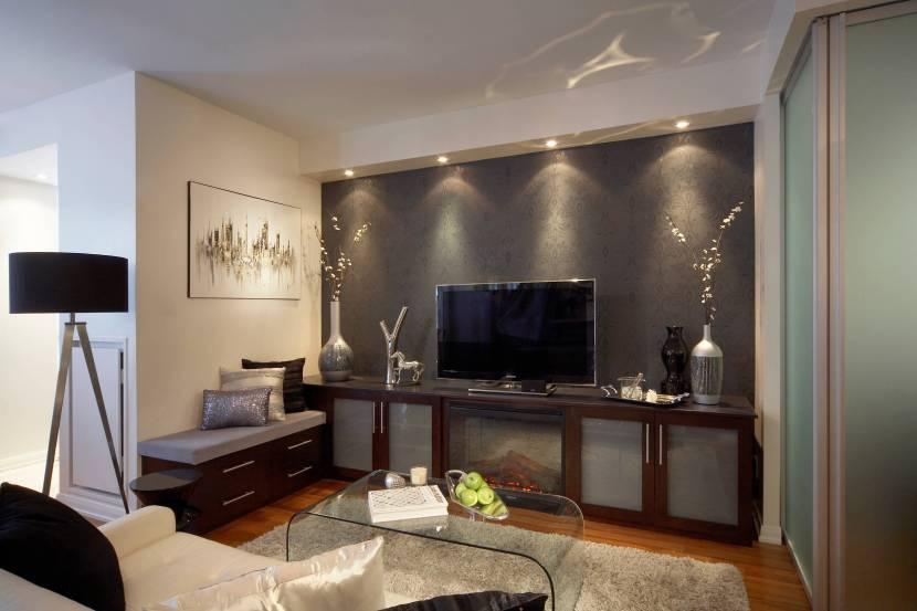 Акцент на коричневый цвет в отделке и мебели