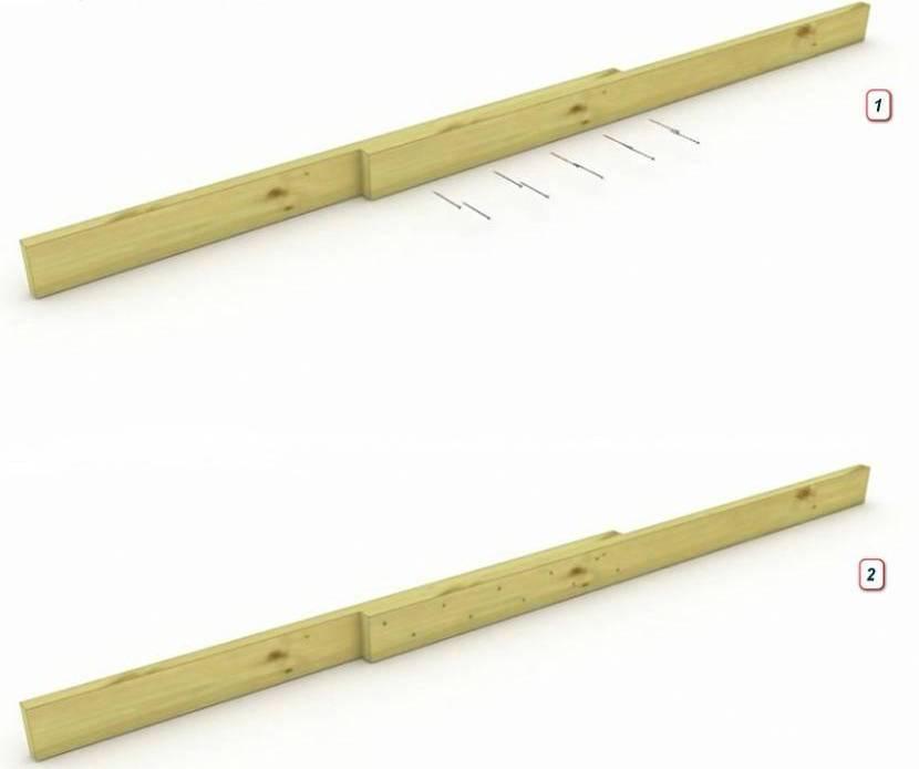 Вариант удлинения стропильной ноги