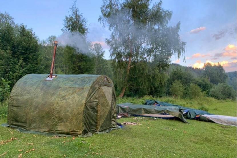 Баня палатка