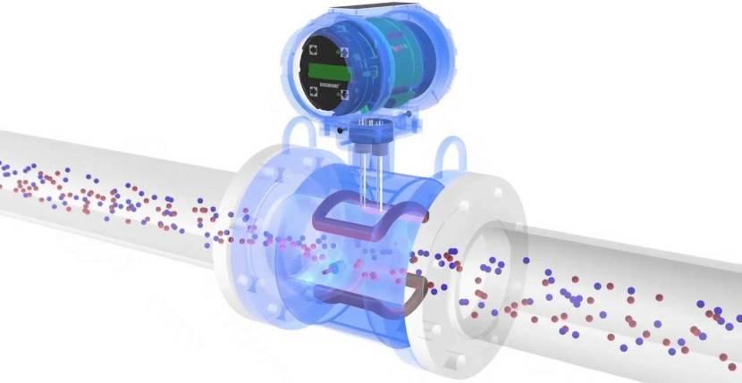 Схема действия электромагнитного водосчетчика