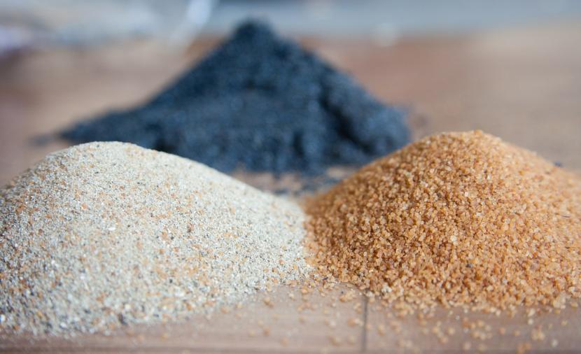 Три разновидности песка