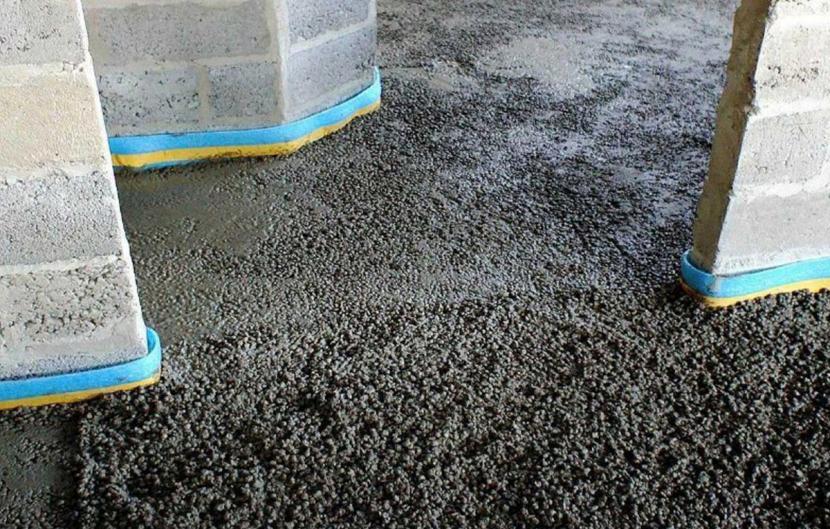 Стяжка из керамзитобетона в один слой смесь сухая бетонная гост