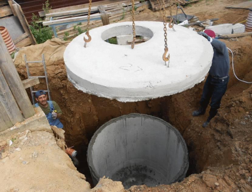 Осаживание с помощью бетонной колонны
