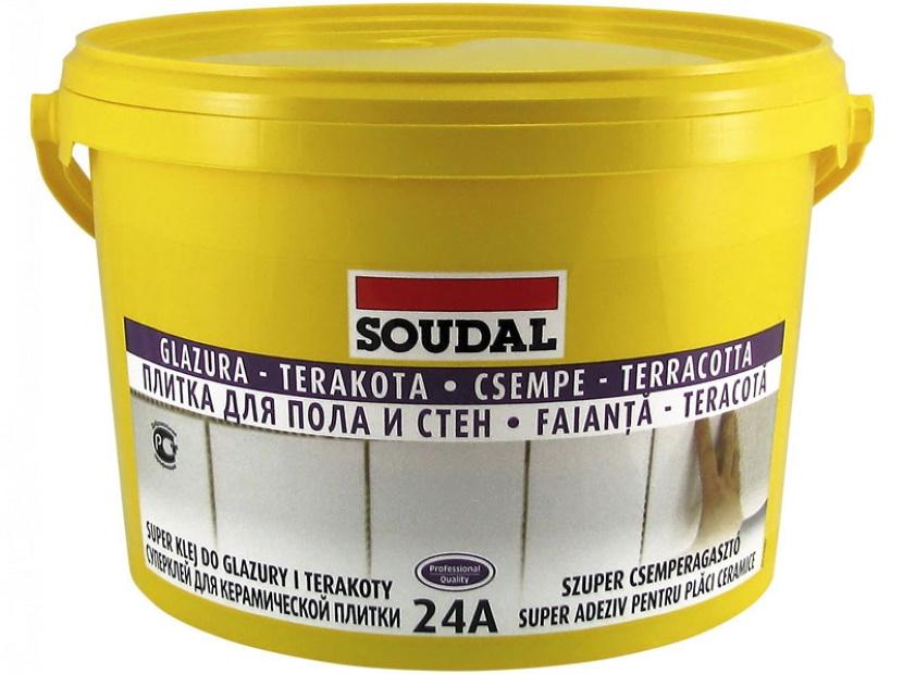 Водостойкий эластичный клей для плитки Соудал 24А