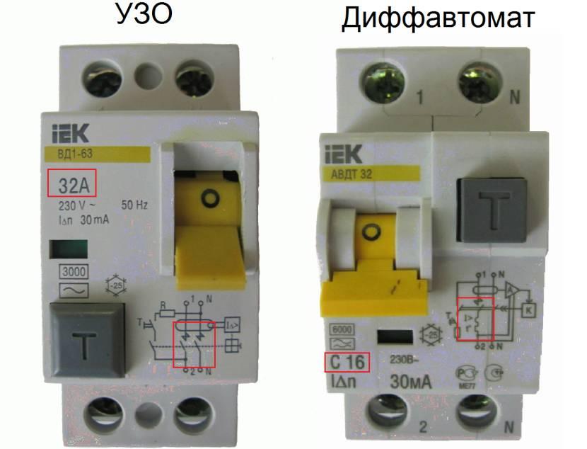 Комбинированный прибор в виде дифавтомата и отдельное УЗО
