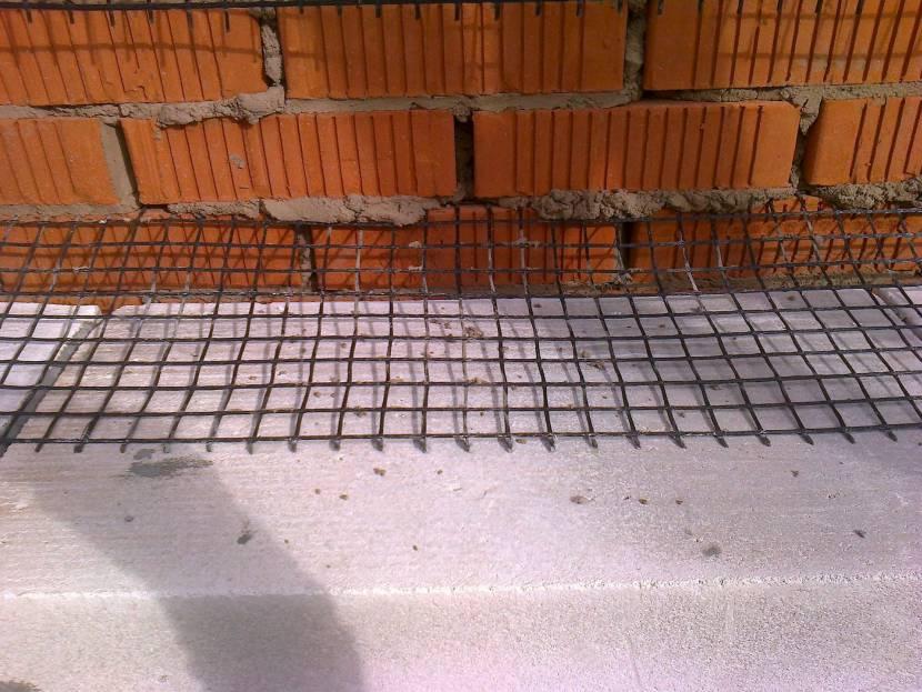 Укрепление кирпичной кладки базальтовой сеткой