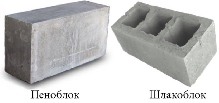 Пеноблок и шлакоблок