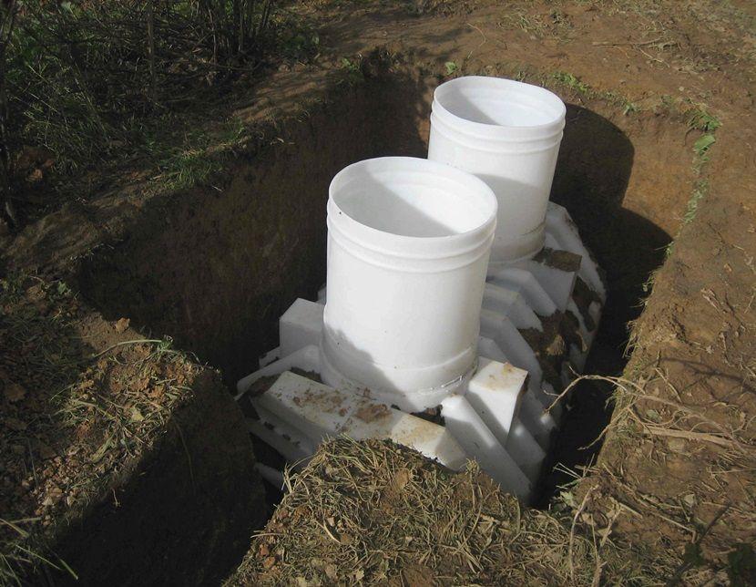 установка туалета септик на даче