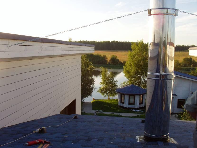 При расчете дымохода всегда учитывают высоту дома