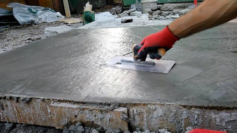 Растирание поверхности при сухом железнении