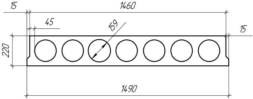 У плит могут быть разные внешние габариты и размеры пустот
