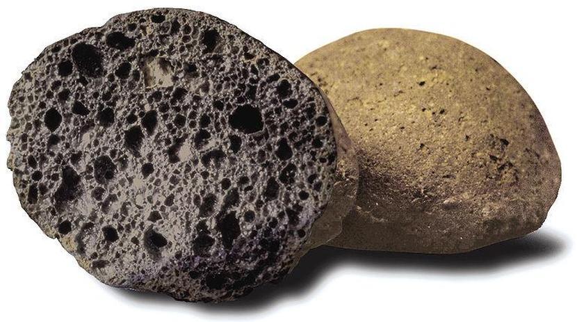Пористая структура окатышей керамзита