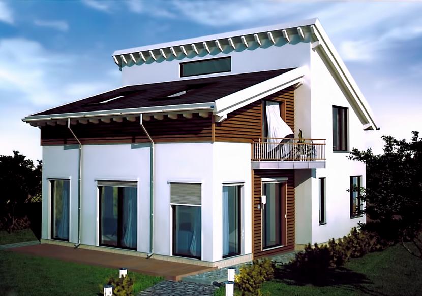 двухскатная крыша с разными скатами