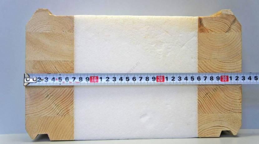 Классический термобрус в разрезе