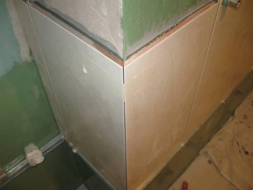Укладка плитки с заусовкой
