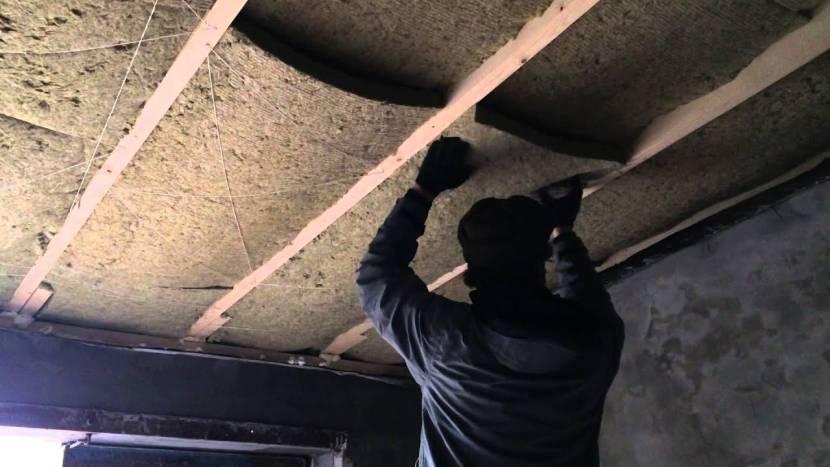 Утепление крыши изнутри минватой