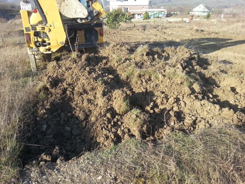 Земляные работы – начало рытья котлована под УШП