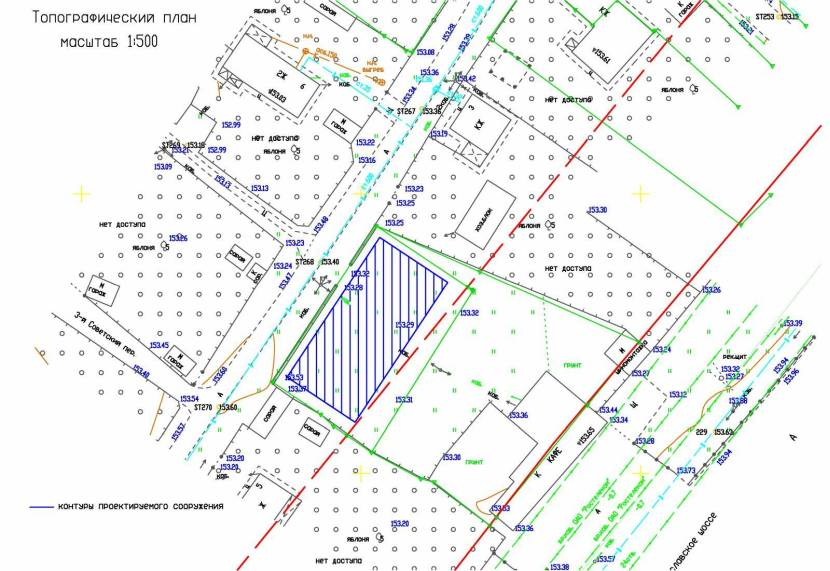 План местности с условными обозначениями