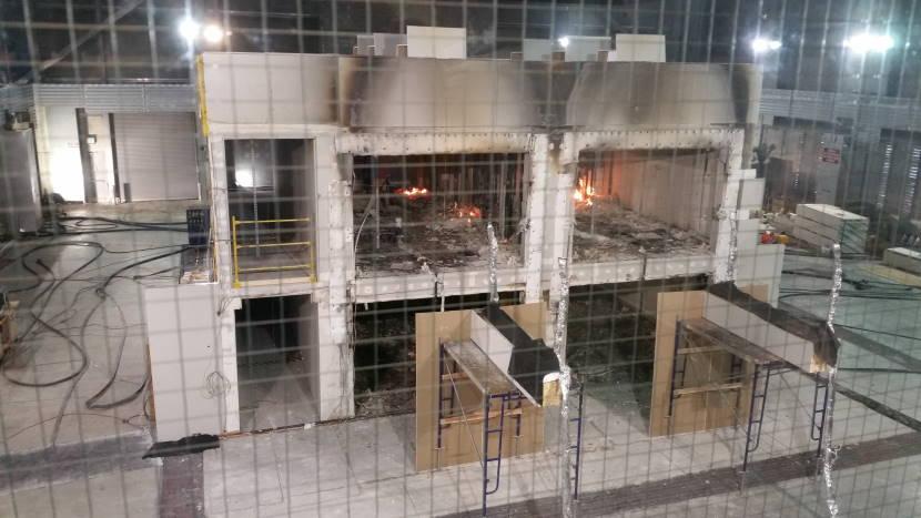 Пожарные испытания CLT панелей